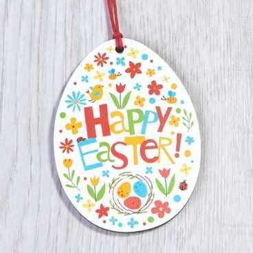 Printed Wooden Easter Egg Decoration 1