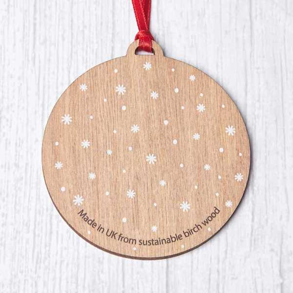 Personalisable Wooden Penguin Bauble