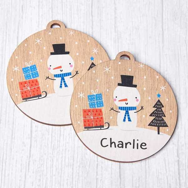 Personalisable Wooden House Bauble