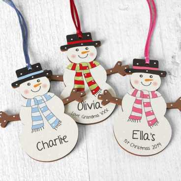 Personalisable Christmas Decorations