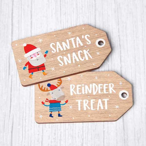Wooden Christmas Eve Tags