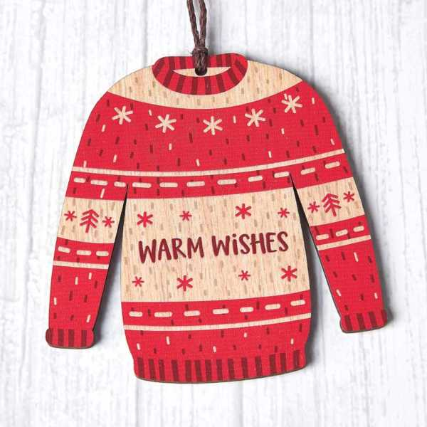 Christmas Jumper - Warm Wishes Red